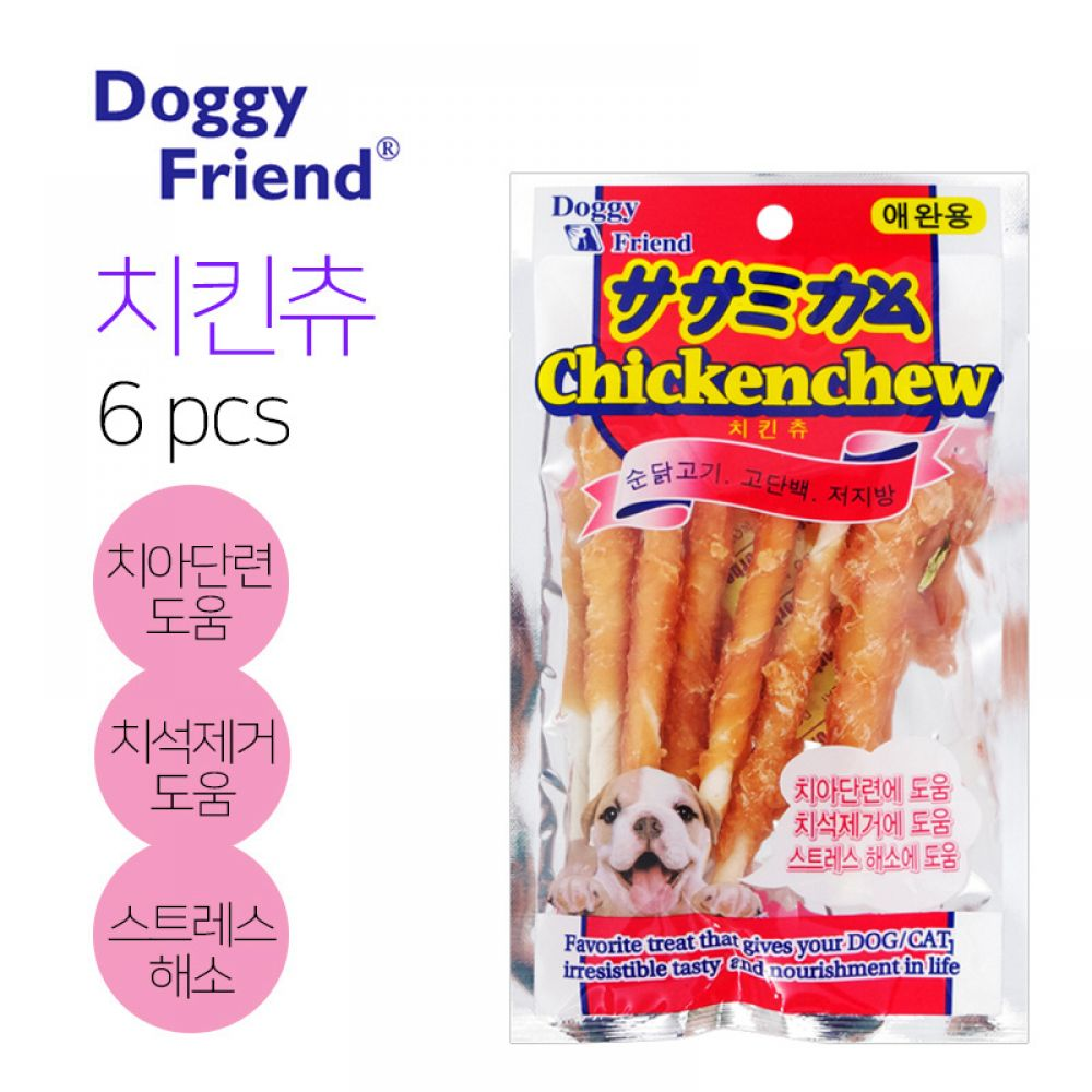 도기프렌드 애견간식 치킨츄 6p 60g