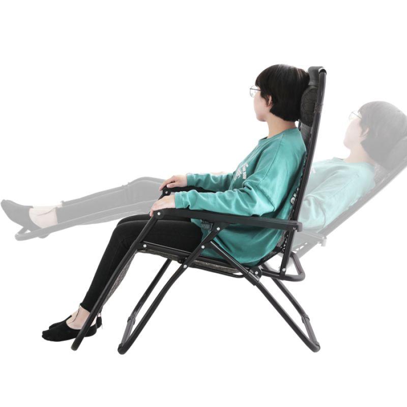 무중력 느낌의 1인용 데일리 리클라이너 접이식 의자