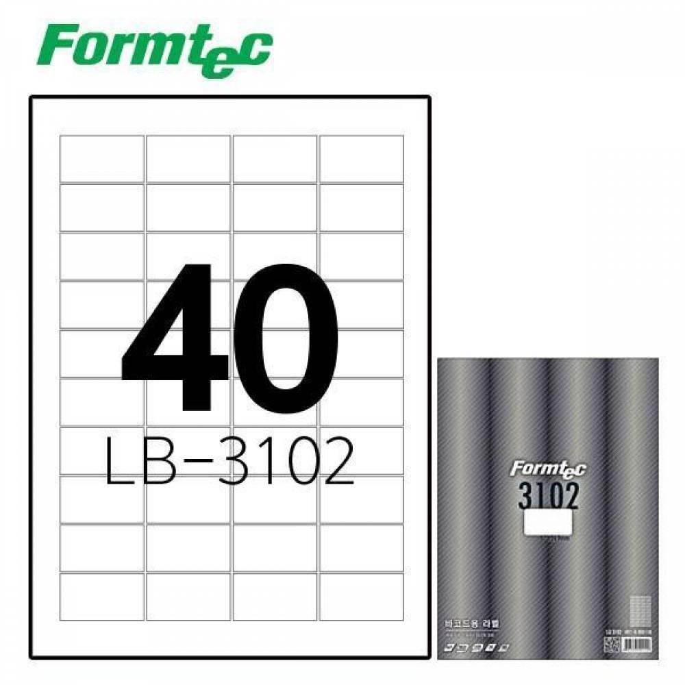 폼텍 LB-3102 100매 레이저 광택 라벨 방수/정리/견출지/스티커/라벨