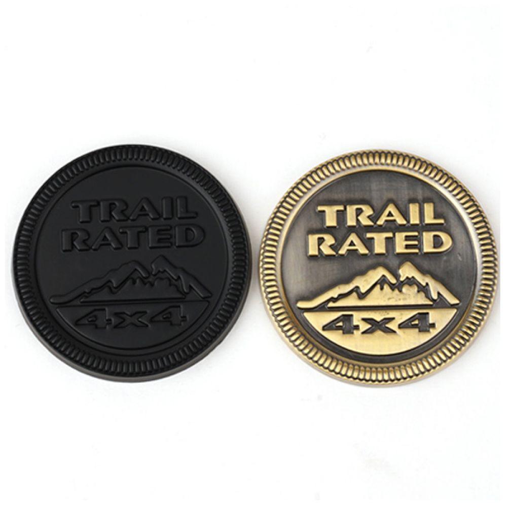지프 악세사리 Trail rated 3D 입체 뱃지 지프 엠블럼 뱃지