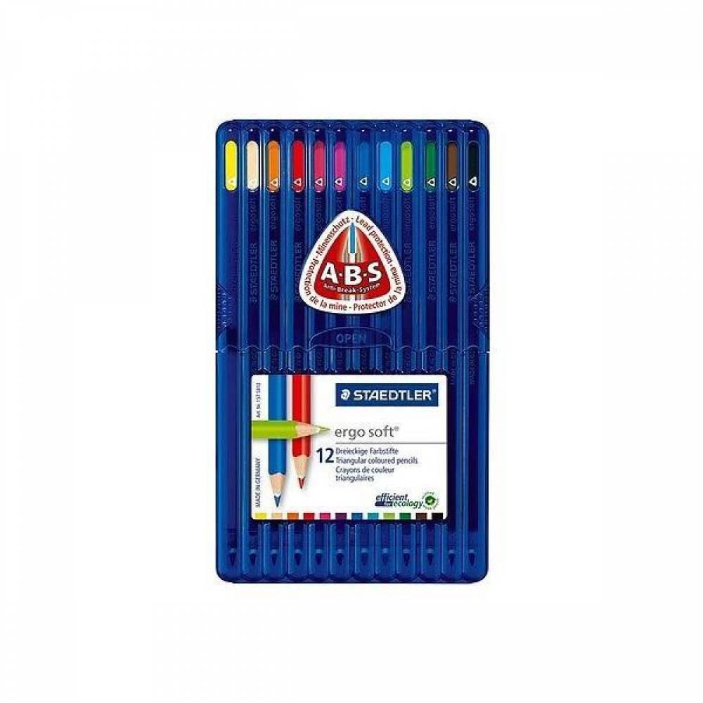 스테들러 에고소프트 색연필 12색 157SB12