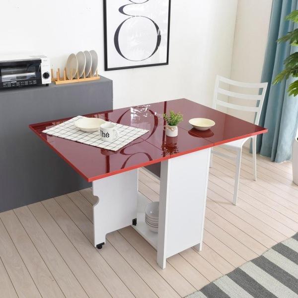히트디자인_윙 하이그로시 800 접이식 테이블 식탁