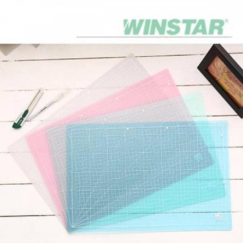 윈스타 PVC 반투명 620X450 A2 데스크 커팅 매트 데스크매트/책상패드