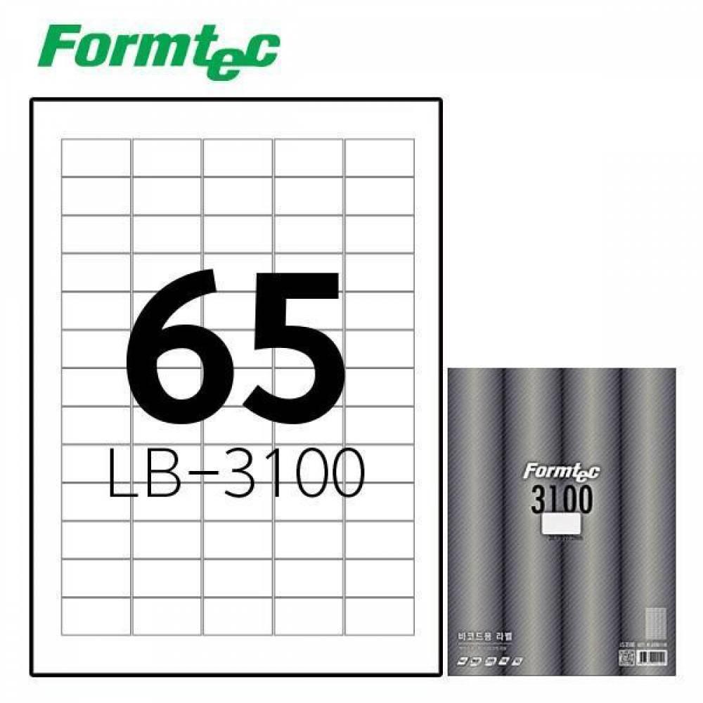 폼텍 LB-3100 100매 레이저 광택 라벨 방수/정리/견출지/스티커/라벨