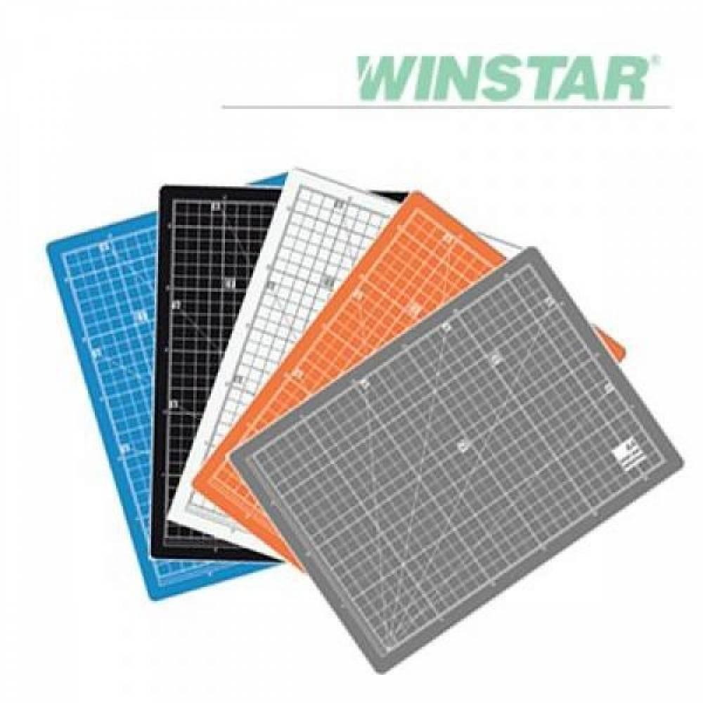 윈스타 칼라 300X215 A4 데스크 고무매트 데스크매트/책상패드/커팅매트